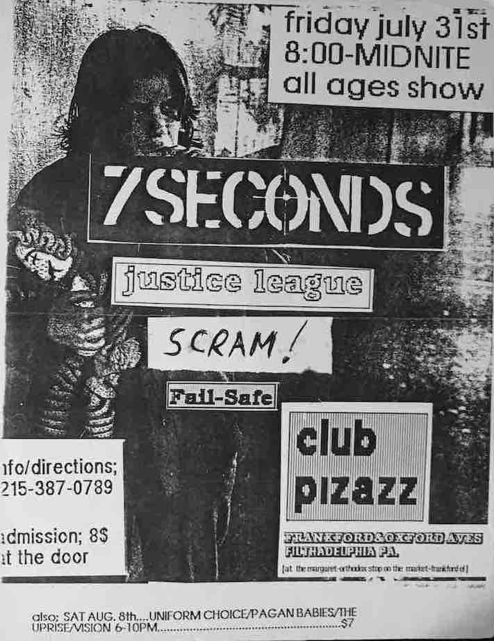 7 seconds the justice league show flyer