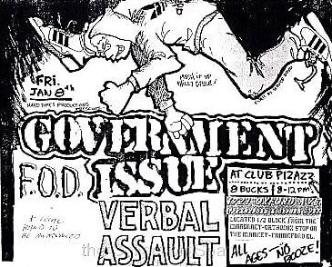 Government Issue Verbal Assault flyer