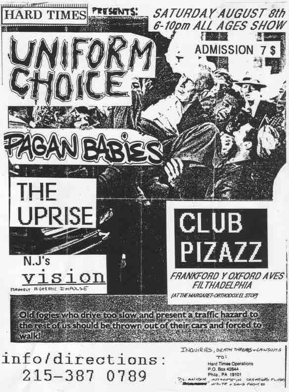 Uniform Choice Pagan Babies - flyer