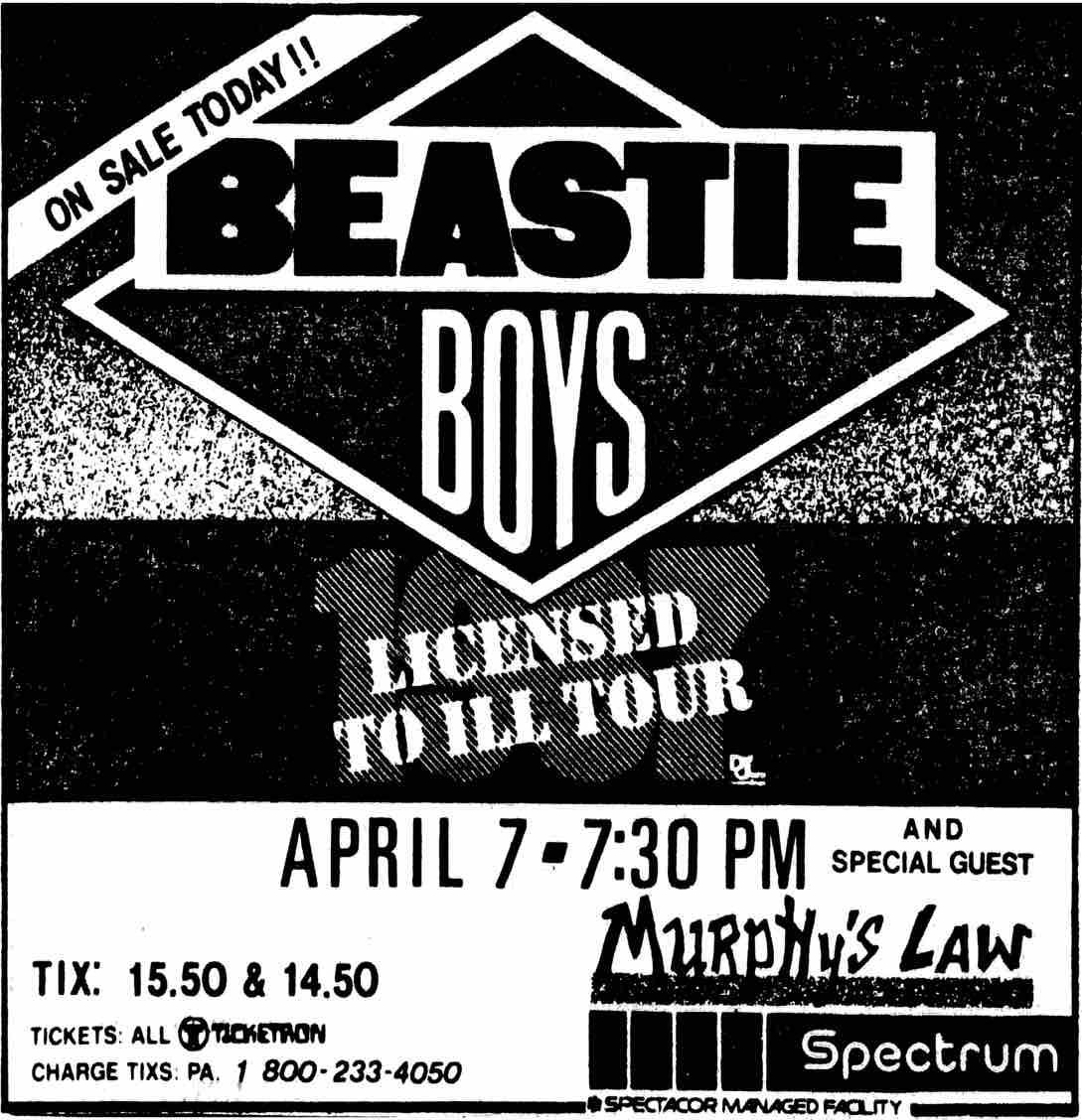 beastie boys newspaper ad
