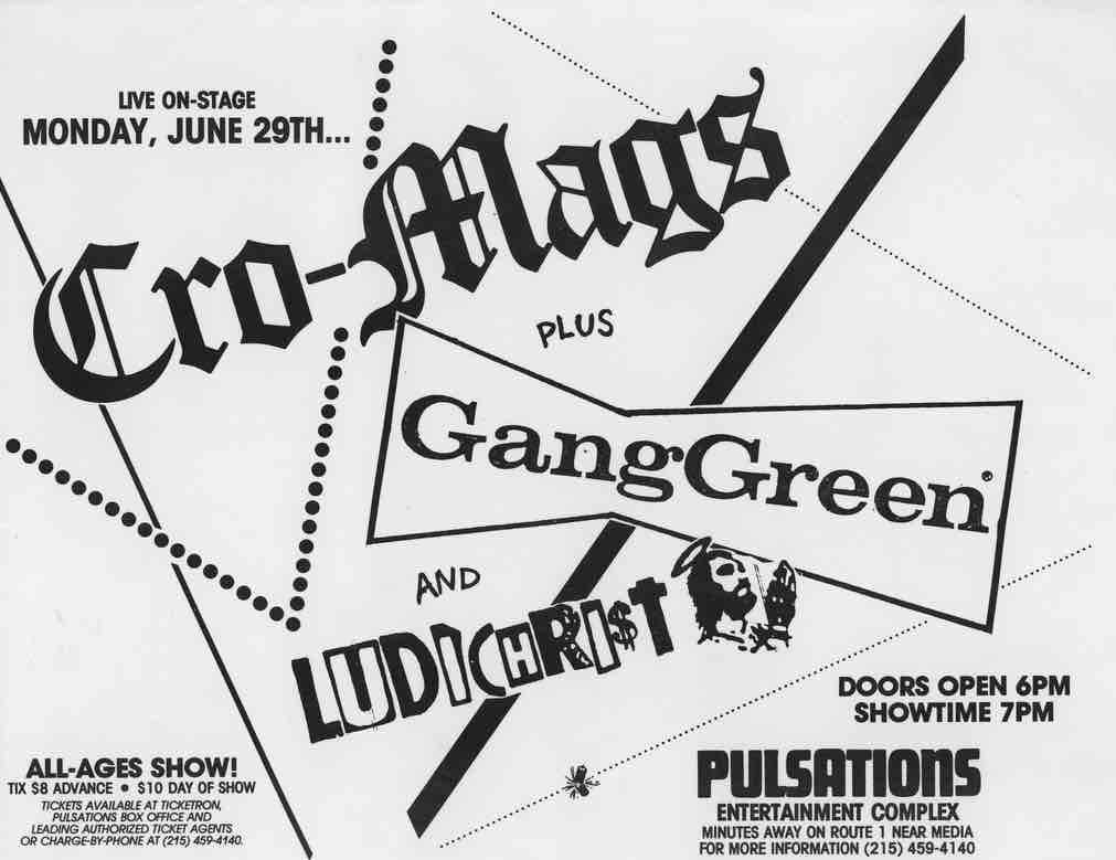 cro mags gang green flyer