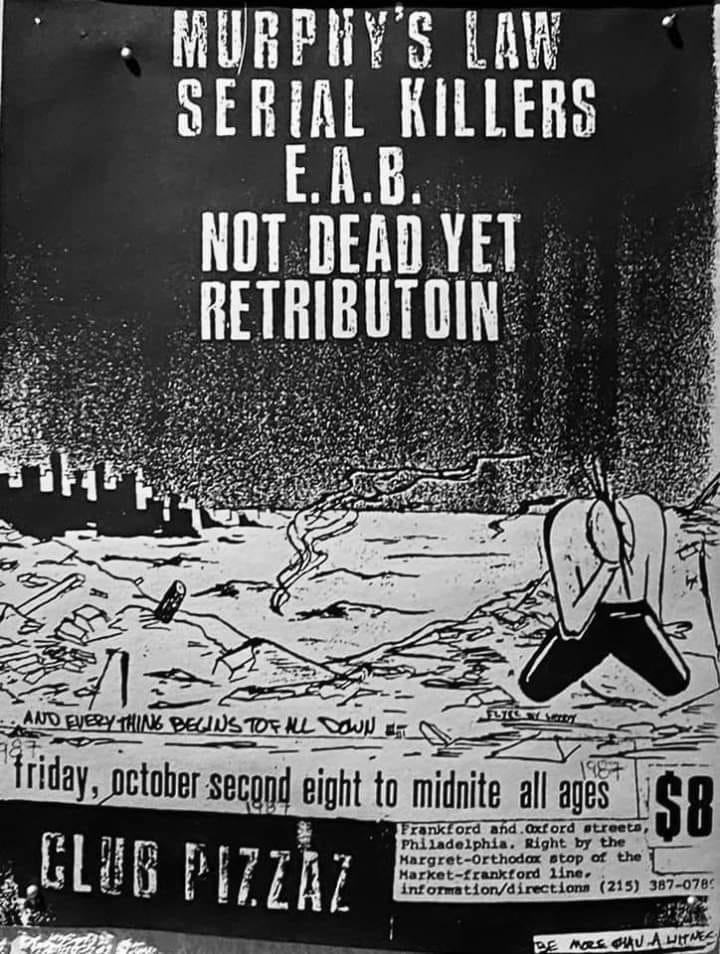 serial killers murphys law flyer
