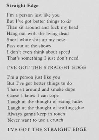 straight edge lyrics