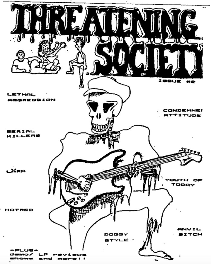 threatening society issue 2 cover