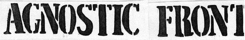 6 - Agnostic Front - logo 2