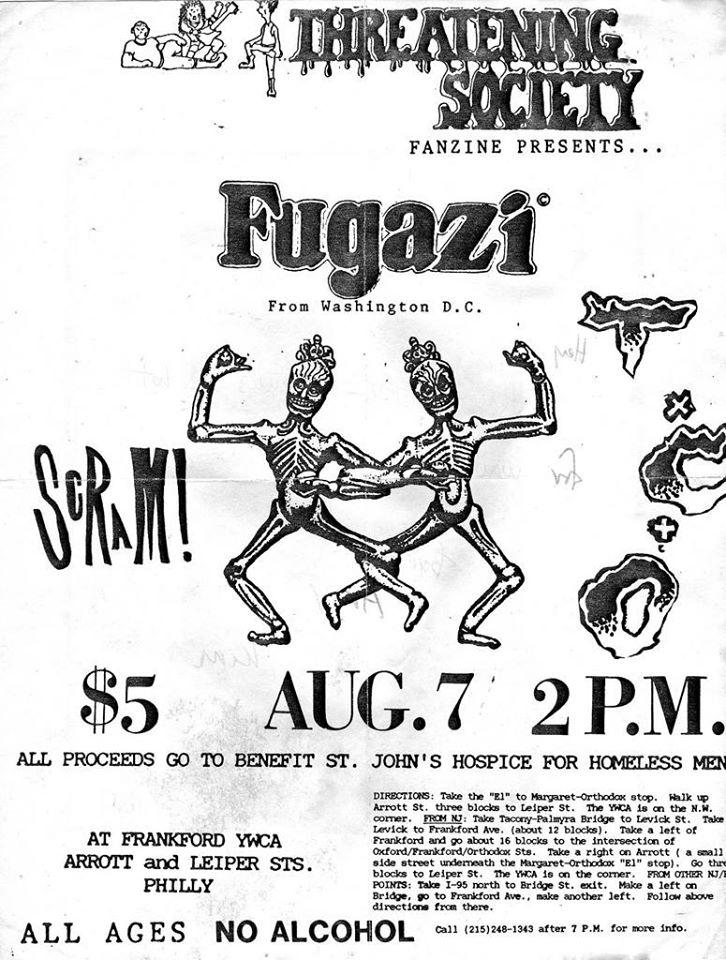 Fugazi show flyer